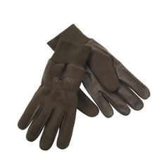 Woodlands, Deerhunter fleece gloves with leather