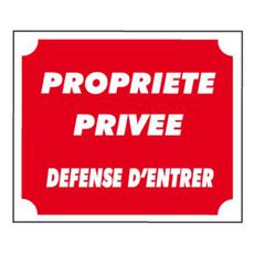 Woodlands, signalisatiebord propriete prive